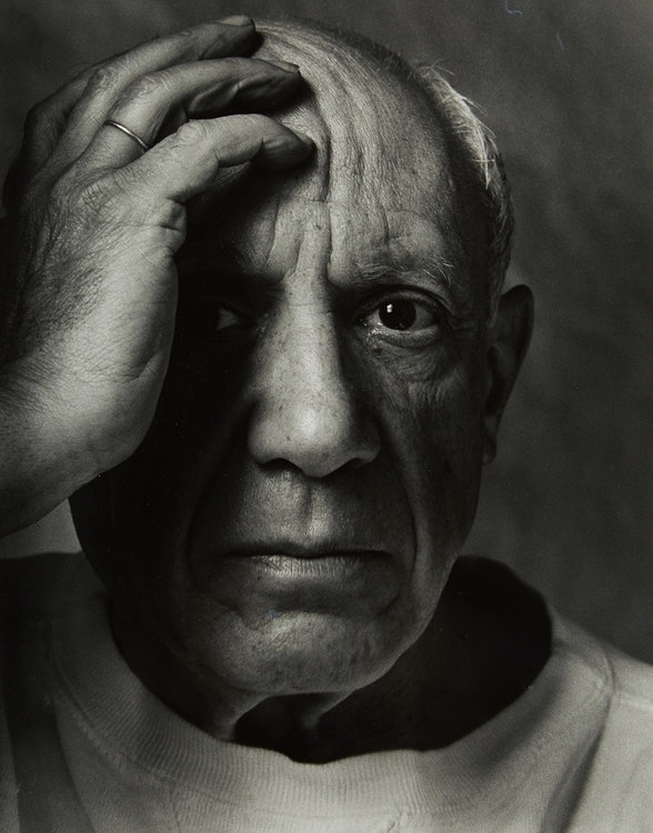 Artwork by Arnold Newman,  Pablo Picasso, Vallauris, France