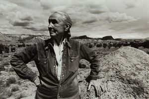 Artwork by Arnold Newman, Georgia O'Keefe, Outside of Ghost Ranch