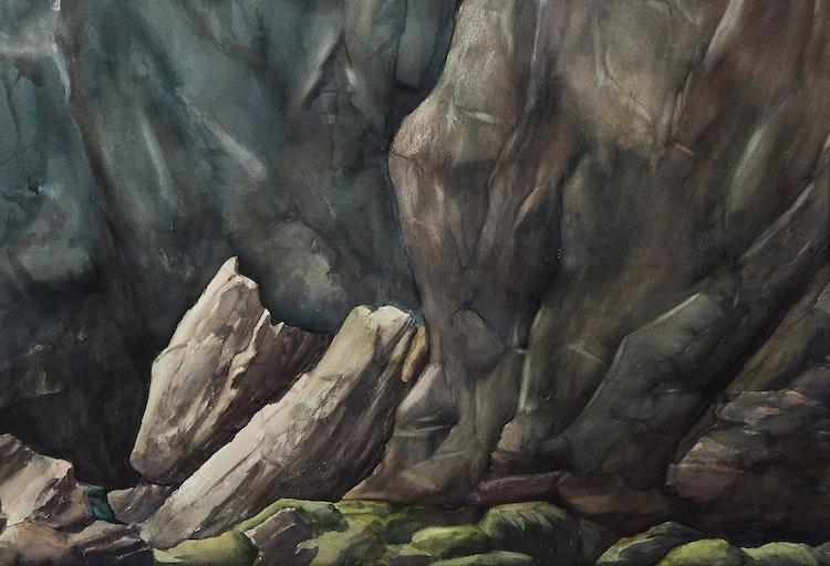 Artwork by John Doyle,  East Coast Rock Face