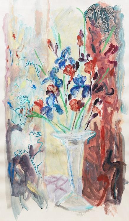Artwork by Brian Marshall Schieder,  Still Life with Irises