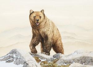 Artwork by Lissa Calvert, Grizzly Bear