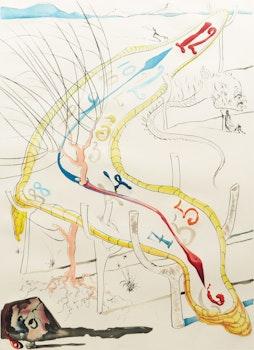 Artwork by Salvador Dalí, Les Montres gélatines de l'espace-temps (from La Conquête du Cosmos) (Michler/Löpsinger 648)