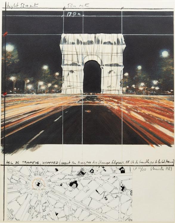 Artwork by Christo and Jeanne-Claude ,  Arc De Triomphe Wrapped (Project for Paris)(Schellman 144)