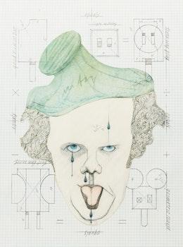 Artwork by Claes Oldenburg, Symbolic Self-Portrait with Equals
