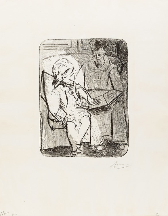 Artwork by Pablo Picasso,  La Lecture (Bloch 75)