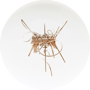 Artwork by Georges Mathieu, Assiette (dinner plate)