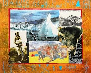Artwork by Jane Ash Poitras, Buffalo Hierophany