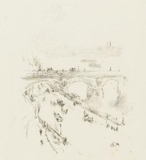 Artwork by James Abbott McNeill Whistler, Waterloo Bridge