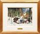 Thumbnail of Artwork by George Franklin Arbuckle,  Sugaring (Sugar Making, St. Sauveur, PQ)