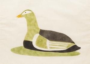 Artwork by Kanayuk Tukaluak, Nesting Duck