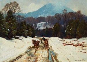 Artwork by Frederick Henry Brigden, March Weather, Eastern Townships
