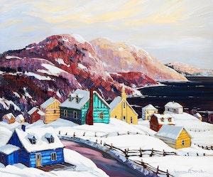 Artwork by Vladimir Horik, Le village de St. Siméon sur la côte de Charlevoix