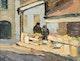 Thumbnail of Artwork by Paul Archibald Caron,  Fruit and Flower Vendors, Bonsecours Market