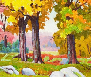 Artwork by Frederick Stanley Haines, Fall, East Bolton, Quebec