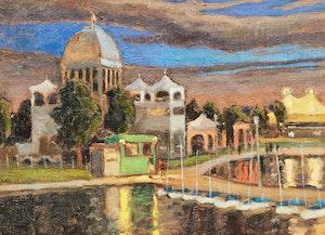 Artwork by Antoine Bittar, Port Pavilions, Old Montreal
