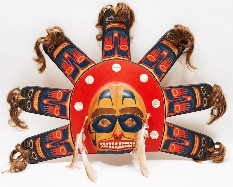 Artwork by Reg Williams,  Tsimshian Sun Mask