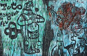Artwork by Albert  Dumouchel, Toto le magnifique de feu