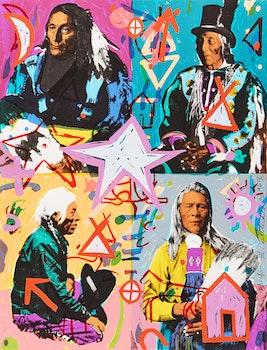 Artwork by George Littlechild, Plains Cree Chiefs