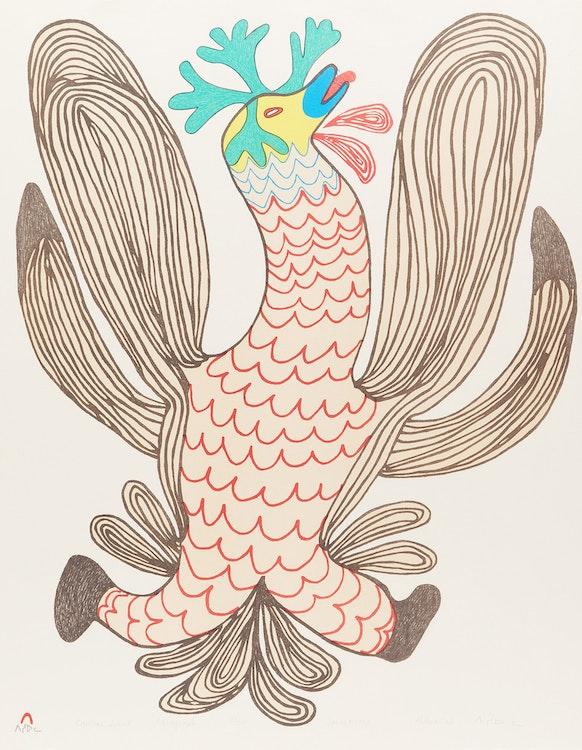 Artwork by Pitseolak Ashoona,  Caribou Spirit