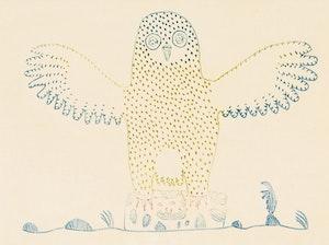 Artwork by Jamasie Teevee, Small Owl