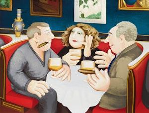 Artwork by Beryl Cook, Russian Tea Room