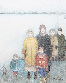 Artwork by Alberto de Castro, The Northern Family