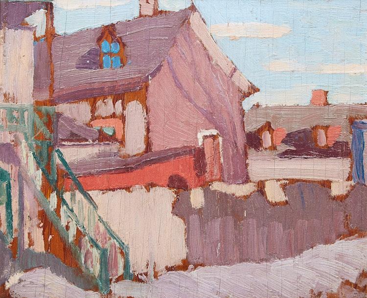 Artwork by Albert Henry Robinson,  Village House