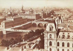 Artwork by  19th Century School, Architectural views of Paris (4)