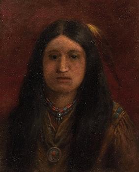 Artwork by Frederick Arthur Verner, Indian Maiden