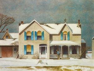 Artwork by Alfred Joseph Casson, First Snow; Island