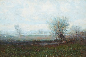 Artwork by Percy Franklin Woodcock, Early Morning, Châteauguay, Que.