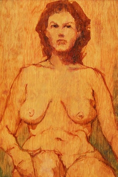 Artwork by Nelson C. Smith, Seated Nude