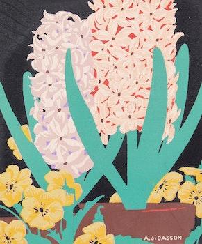 Artwork by Alfred Joseph Casson, Hyacinths; Daffodils