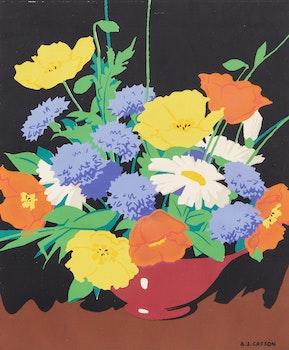 Artwork by Alfred Joseph Casson, Floral Arrangement