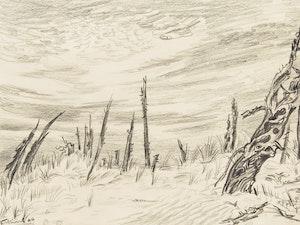Artwork by Ernest Caven Atkins, The Sandbanks