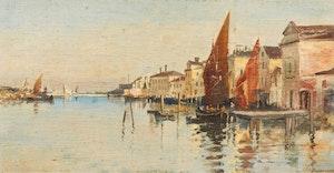 Artwork by John A. Hammond, Canal Scene