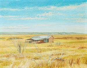 Artwork by Colin Williams, Landscape Near Bearbaw Alberta; St. Adèle, PQ