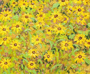 Artwork by Lawrence Nickle, Sunflowers