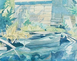 Artwork by Alfred Joseph Casson, Rowboat
