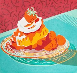 Artwork by Mary Pratt, Strawberry Shortcake (with Mary Pratt book)