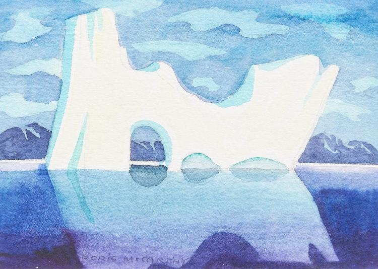 Artwork by Doris Jean McCarthy,  River Iceberg