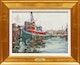 Thumbnail of Artwork by Manly Edward MacDonald,  Tugboat in Toronto Harbour