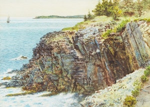 """Artwork by Ernest Sawford Dye, At the """"Ovens"""", 11 miles From Lunenburg, N.S."""