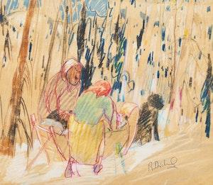 Artwork by Rene Richard, Campements de trappeurs