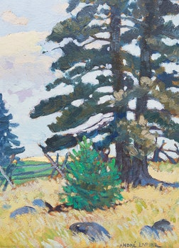 """Artwork by Andréas Christian Gottfried Lapine, The Pines II, """"Capt"""" Millars Cottage, Big Bay Point"""
