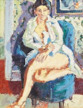 Artwork by Robert Francis Michael McInnis, The Blue Chair