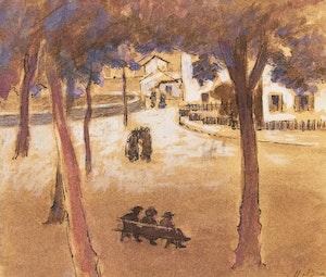 Artwork by Henri Beau, Place du village