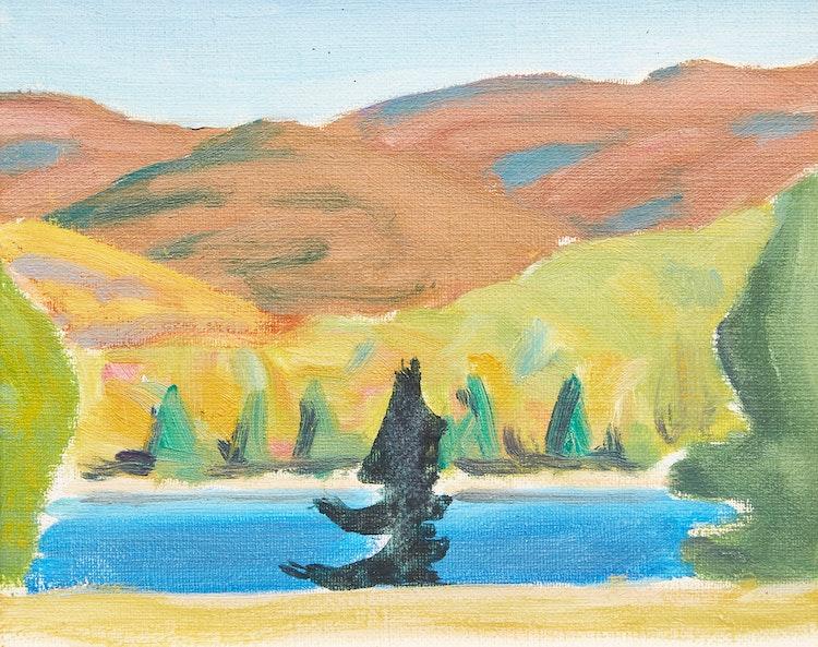 Artwork by John Goodwin Lyman,  Laurentian Lake