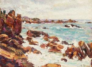 Artwork by Henri Beau, Ploumanac'h, Coté de Bretagne