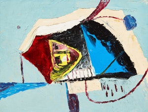Artwork by William John Bertram Newcombe, Red/Blue